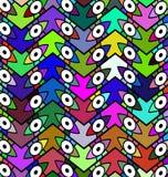 颜色被仿造的背景眼睛 库存照片