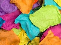颜色被弄皱的纸张 横幅上色曲线例证滤网没有彩虹向量空白 顶视图 免版税库存照片