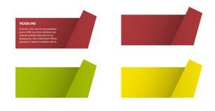 颜色被折叠的文本背景 库存照片