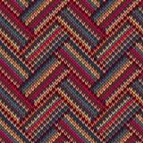 颜色被编织的模式无缝的样式 库存照片