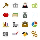 颜色被设置的企业象 免版税库存照片