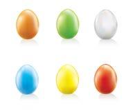 颜色被设置的复活节彩蛋 免版税库存图片