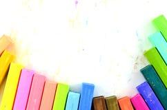 颜色被隔绝的白垩柔和的淡色彩 库存照片
