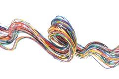 颜色计算机缆绳 库存照片