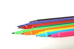 颜色记号笔 免版税库存图片