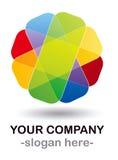 颜色设计徽标 免版税图库摄影