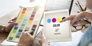 颜色设计模型艺术油漆颜料行动概念 免版税库存图片