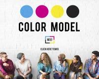 颜色设计模型艺术油漆颜料行动概念 免版税库存照片