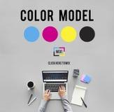 颜色设计模型艺术油漆颜料行动概念 免版税图库摄影