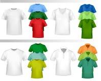 颜色设计衬衣t模板向量 库存照片
