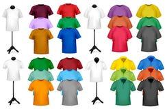 颜色设计衬衣t模板 免版税图库摄影
