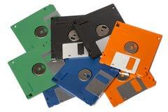颜色软盘堆  免版税库存图片