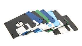颜色软盘堆  库存图片