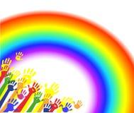 颜色递掌上型计算机彩虹 库存照片