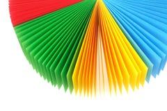 颜色通知单纸张风扇 免版税库存照片