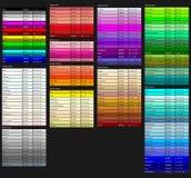 颜色遮蔽传染媒介例证 免版税图库摄影