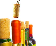 颜色酒 免版税库存图片