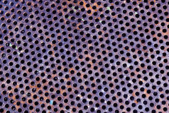 颜色金属栅格地板样式 免版税库存照片