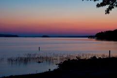 颜色金星阿肯色彩虹传送带在天空的 免版税库存图片