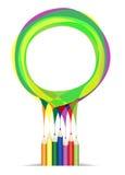 颜色铅笔临时 向量例证