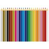 24颜色铅笔传染媒介 库存例证