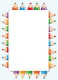 颜色铅笔和纸 免版税库存照片