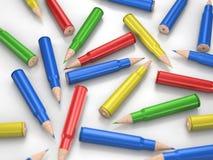 颜色铅笔子弹 免版税库存图片