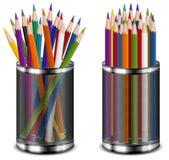 颜色铅笔技术支持 库存图片