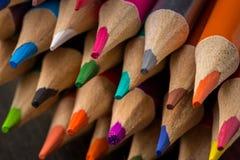 颜色铅笔提高的技巧  库存照片