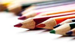 从颜色铅笔的抽象背景 库存图片