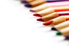 从颜色铅笔的抽象背景 免版税库存照片