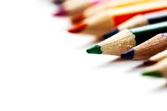 从颜色铅笔的抽象背景 免版税图库摄影