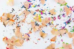 颜色铅笔石墨 您的设计的五颜六色的背景 免版税库存图片