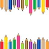 颜色铅笔背景 库存图片