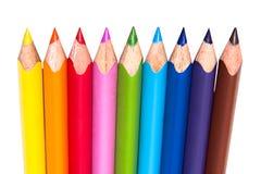 颜色铅笔行 库存图片