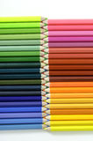 颜色铅笔设置了 库存照片