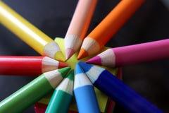 颜色铅笔设置了 免版税图库摄影