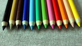 颜色铅笔设置了 图库摄影