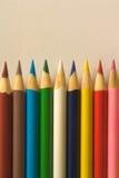 颜色铅笔 免版税库存照片