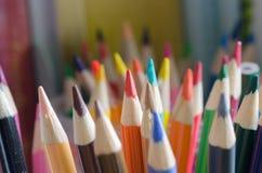 组颜色铅笔 库存照片