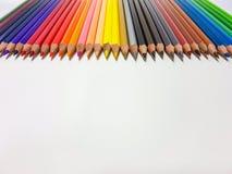 颜色铅笔 库存照片