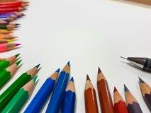 颜色铅笔 免版税图库摄影