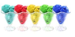 颜色锥体奶油色冰 免版税库存照片