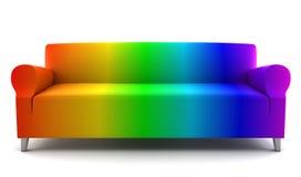 颜色长沙发查出的彩虹白色 皇族释放例证