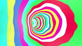颜色隧道自转圈 向量例证