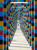 颜色隧道 库存照片