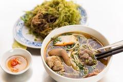 颜色面条-越南食物 库存图片
