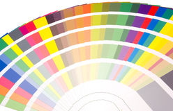 颜色风扇抽样口气 免版税库存图片