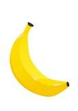 颜色香蕉果子象 现代简单的平的素食标志 库存图片