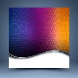 颜色马赛克背景模板 免版税库存照片